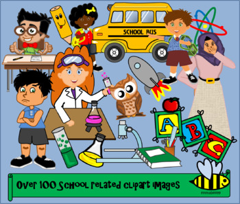 School themed clipart.