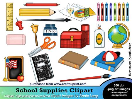 School things clipart 3 » Clipart Station.