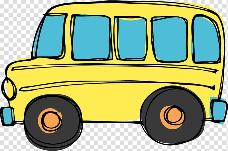 School bus , Transportation Border transparent background.