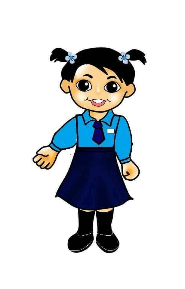 girl with school uniform.