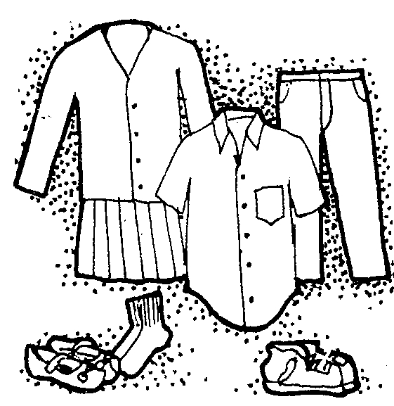 Images: School Clothes Clipart Black And White.