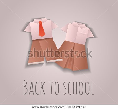 School Uniforms In Public Schools Clipart.