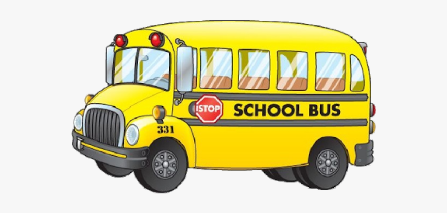 Cartoon School Buses.