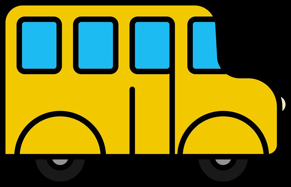 Free vector graphic: Icon, Bus, School Bus, School Van.