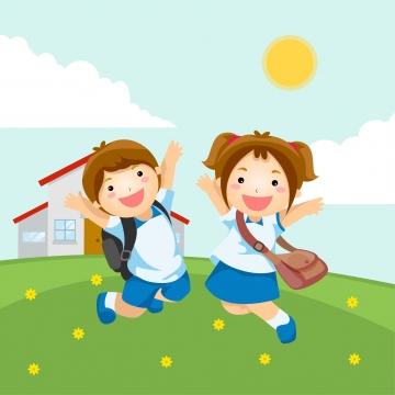 School Vector, Free Download School children, Back to school.