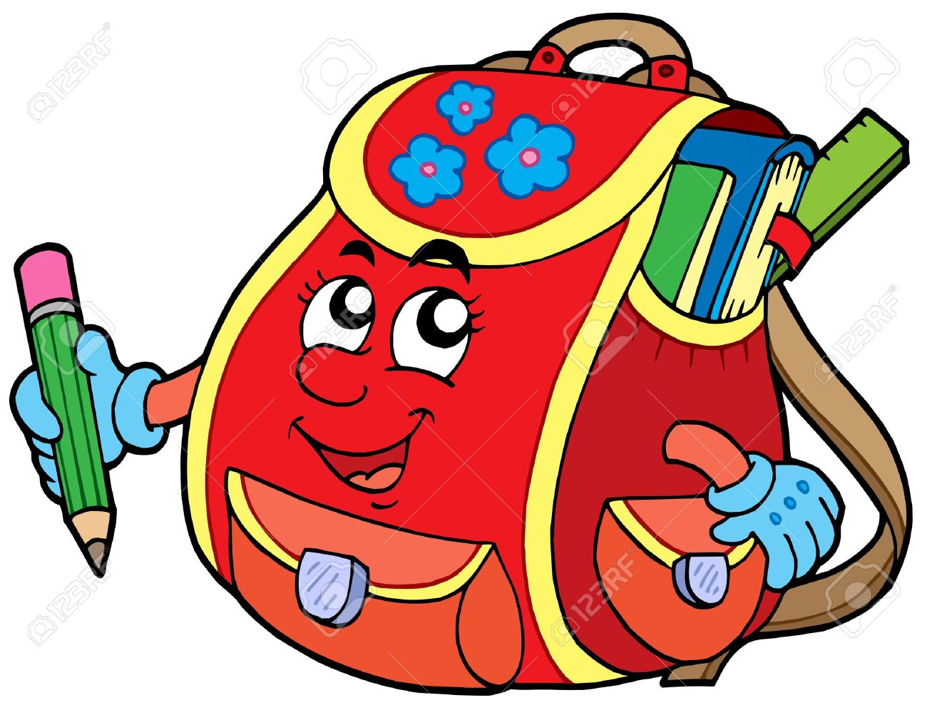Schoolbag clipart - Clipground