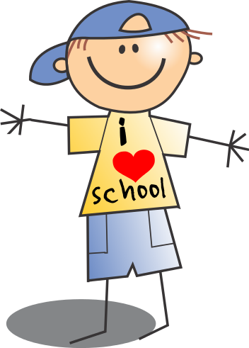 School boy clipart.