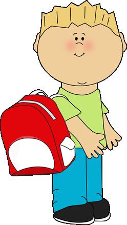 Boy Clipart At School.