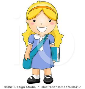School Girl Clip Art.