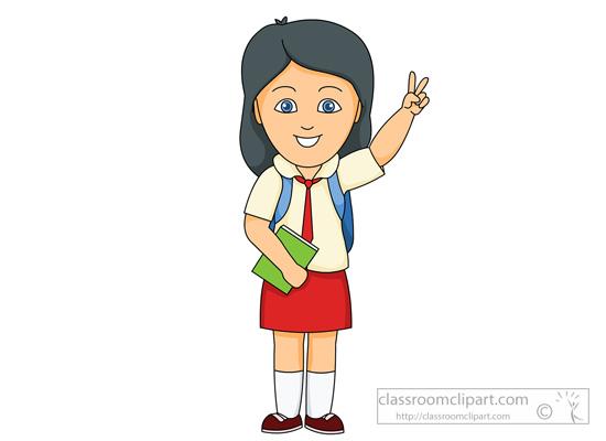School Girl Clipart.