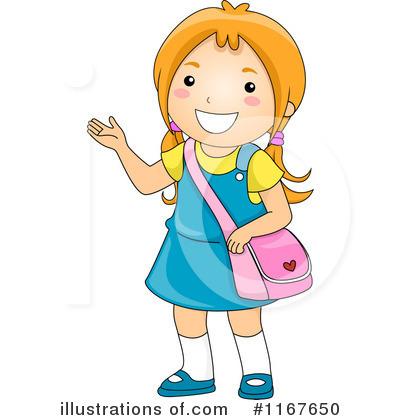 Clipart school girl.