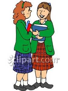 Girls School Uniform Clipart.