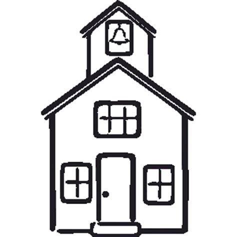 Schoolhouse black and white clipart 1 » Clipart Portal.