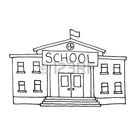 Schoolhouse Clipart Black And White (101+ images in.