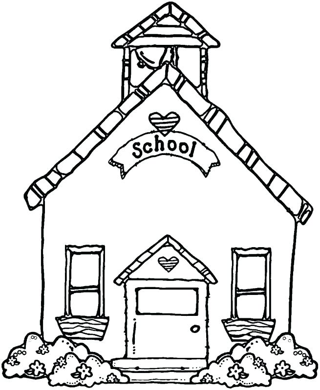 School House Drawing.