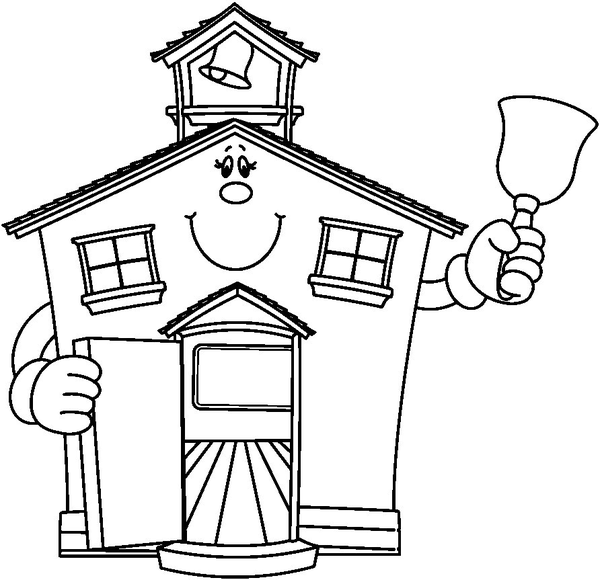 Schoolhouse school house clipart black and white free.
