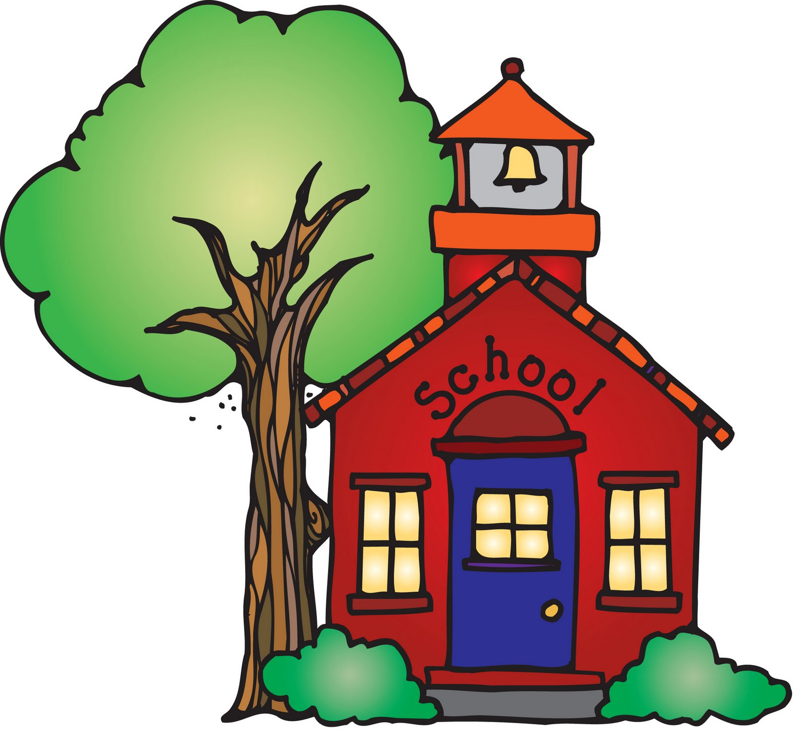 Animated schoolhouse clipart.