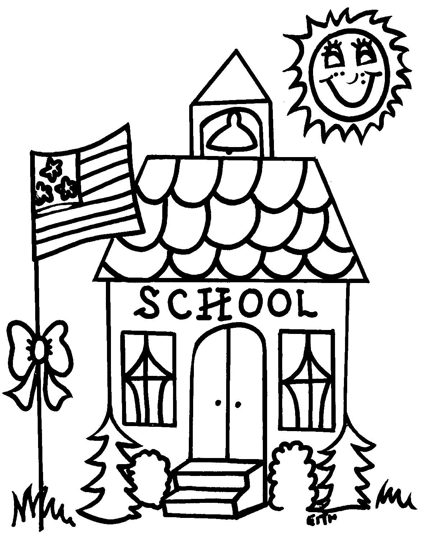 Schoolhouse clipart black and white 4 » Clipart Portal.