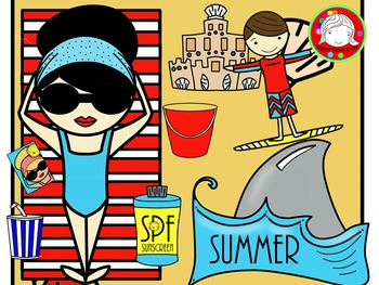 School\'s Out for Summer Clipart (Personal & Commercial Use).