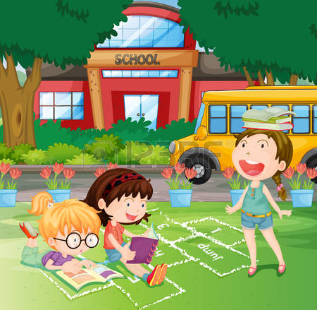 1,047 School Yard Stock Illustrations, Cliparts And Royalty Free.
