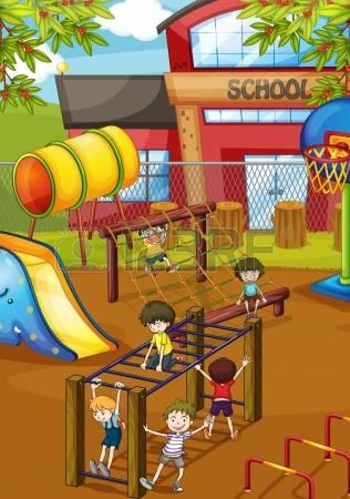 789 Schoolyard Cliparts, Stock Vector And Royalty Free Schoolyard.