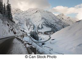Stock Photography of Alpine Village, Austria.