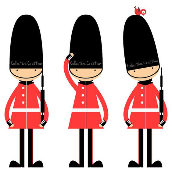 Queen's Guards Digital Clipart Clip Art for by CollectiveCreation.