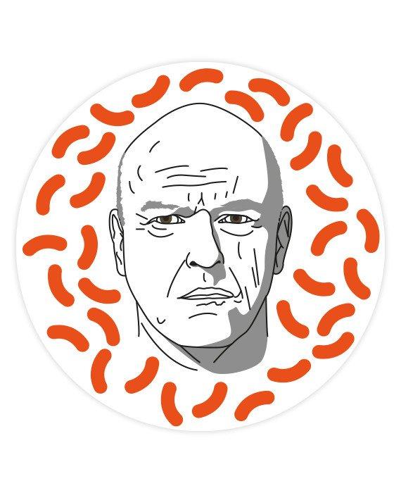 Hank Schrader Sticker.