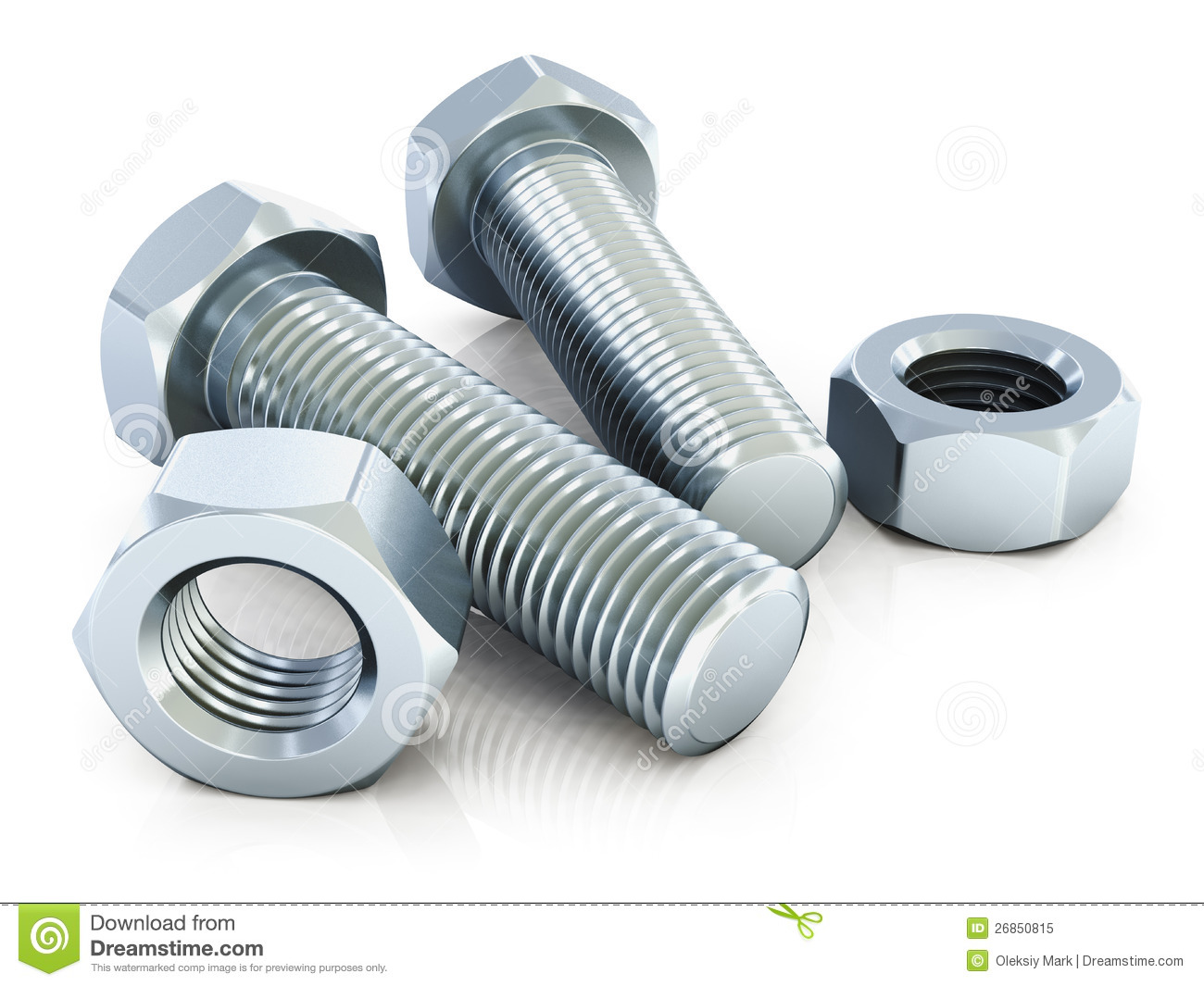 Nut And Bolt Cartoon Clipart.