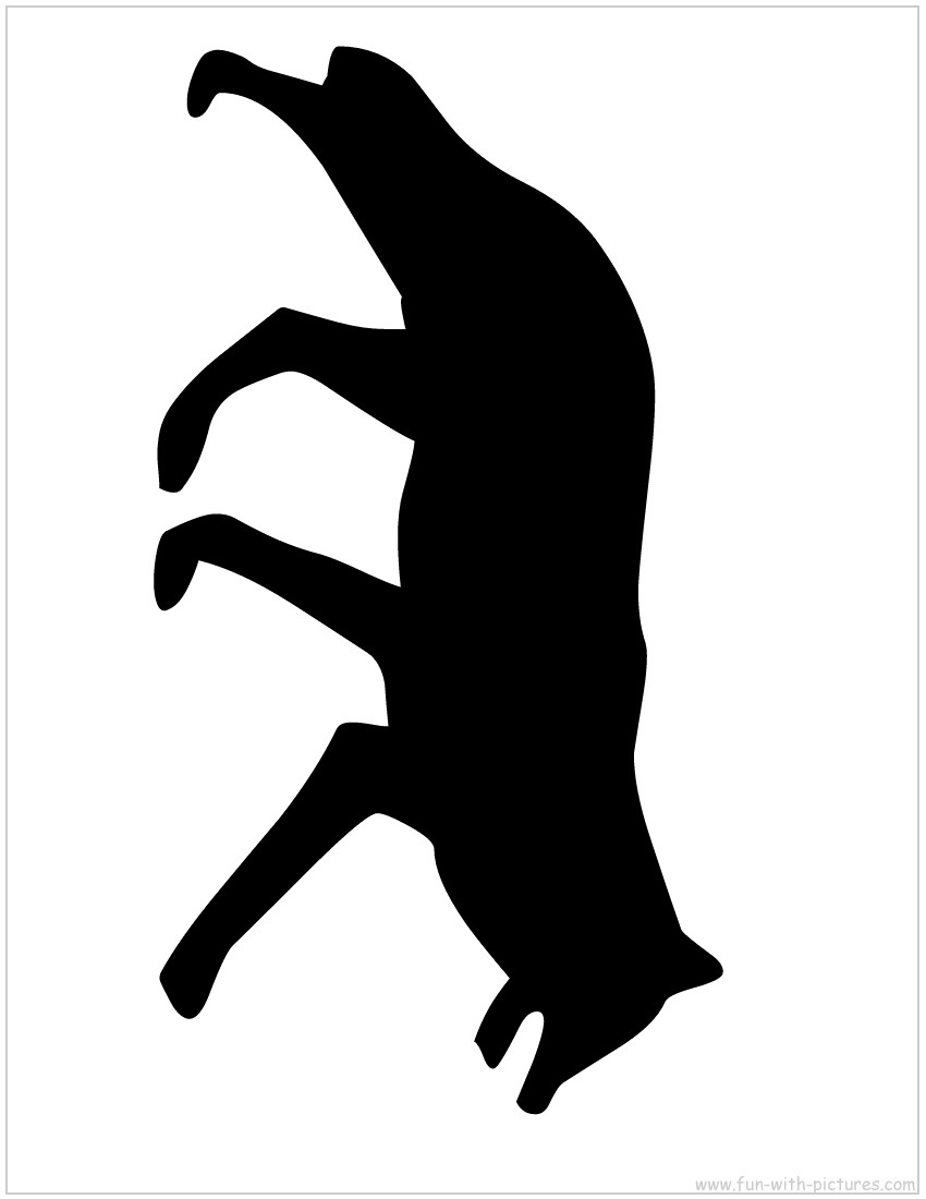 Wolf Animal Silhouettes.