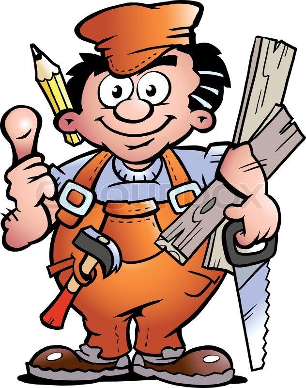 Schreiner bei der arbeit clipart.