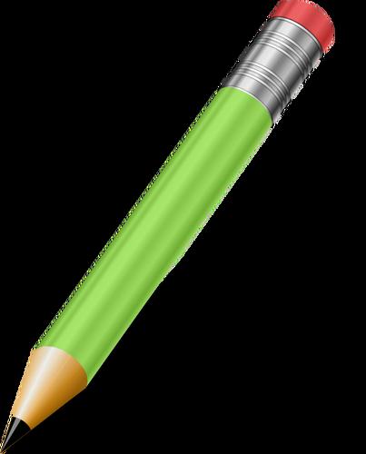 Sharp green pencil vector clip art.