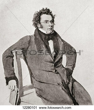 Stock Photography of Franz Peter Schubert, 1797.