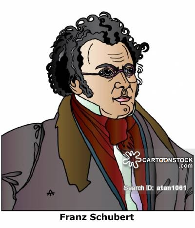 Franz Schubert Cartoons and Comics.