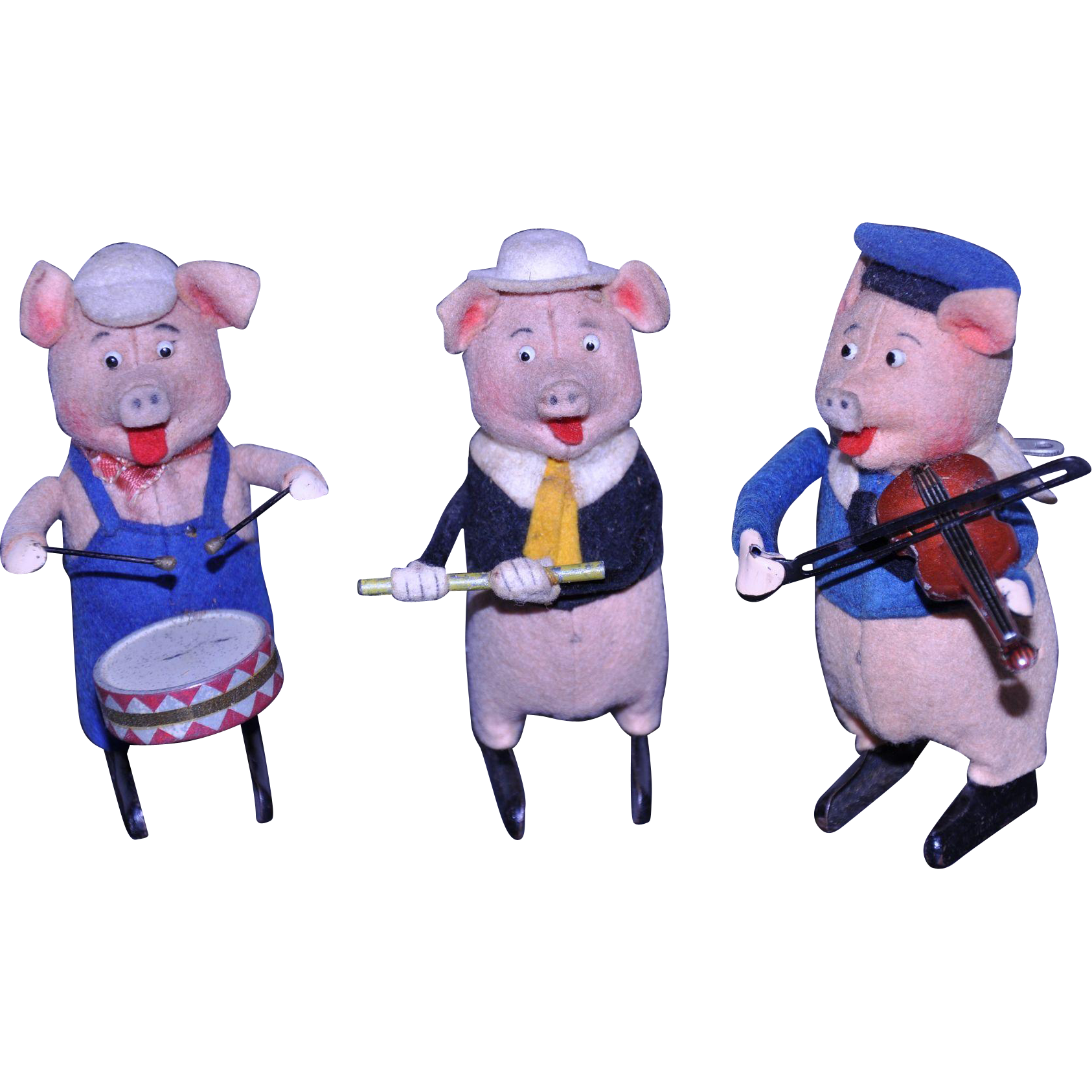 Schuco Disney German Three Little Pigs wind up toys 1930 from.