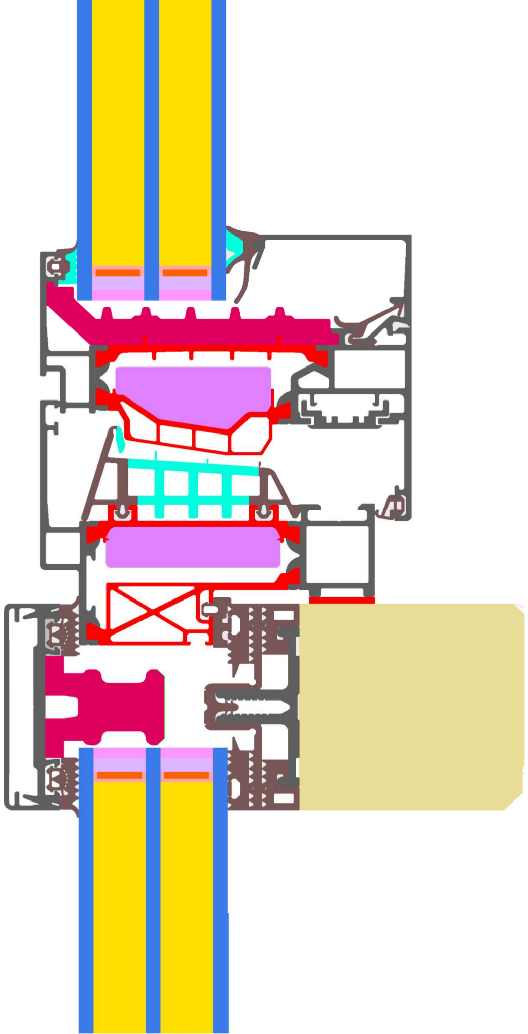 Detail View of Schüco AOC 60 TI.SI (vertikal).