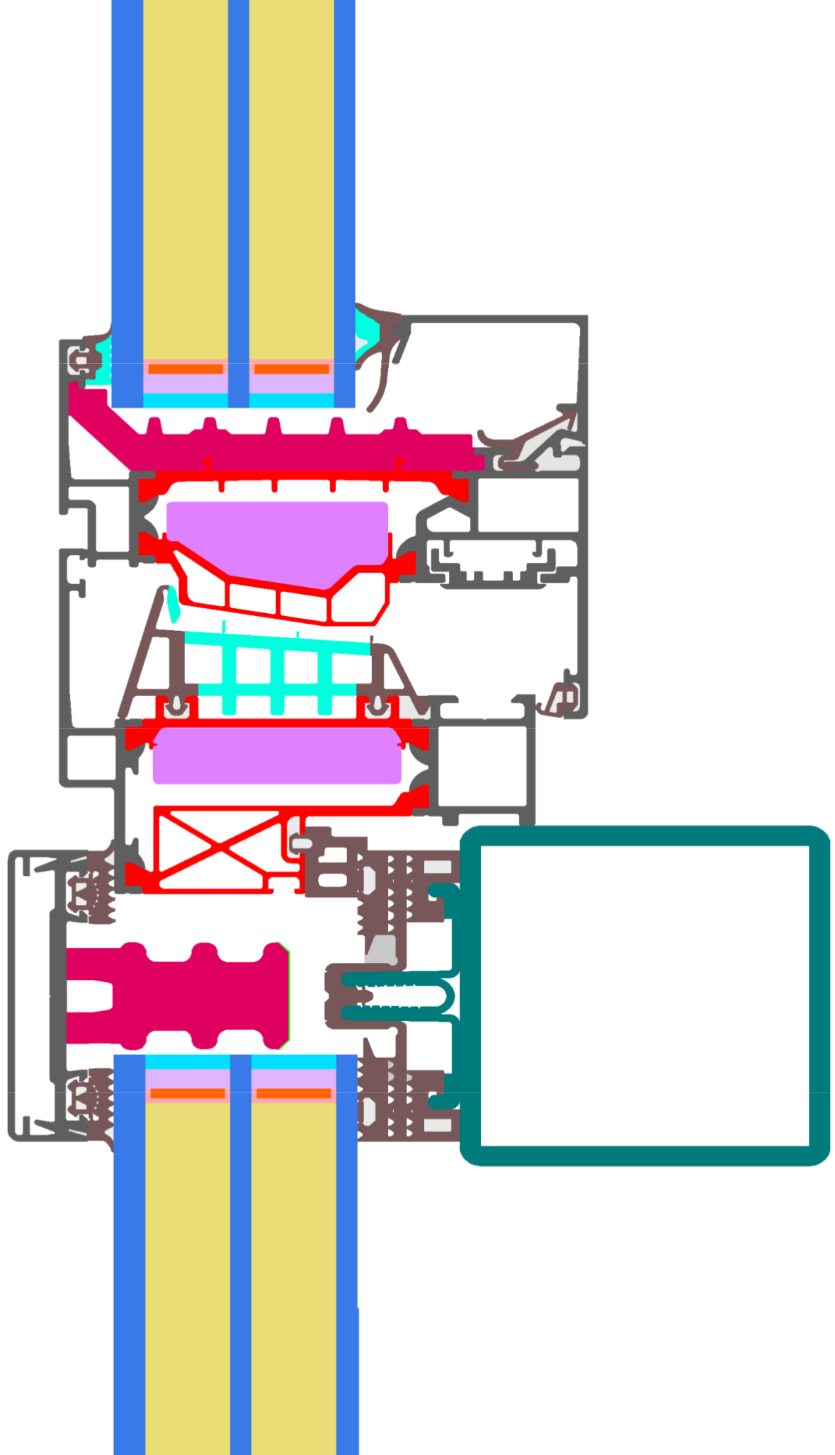 Detail View of Schüco AOC 60 ST.SI (vertikal).