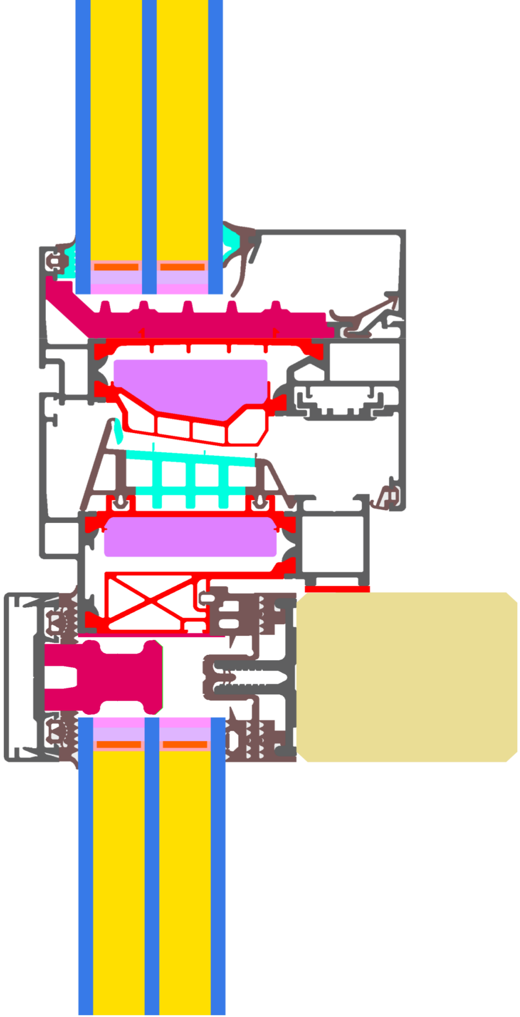 Detail View of Schüco AOC 50 TI.SI (vertikal).