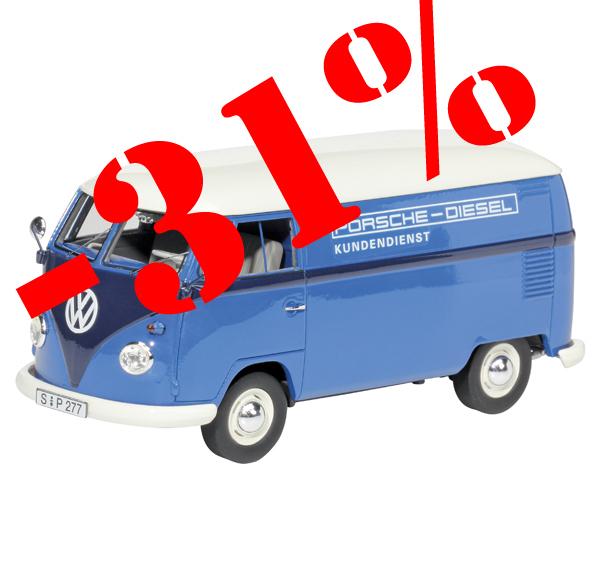 Schuco Pro.R32 450892200 VW T1 Bulli Porsche Diesel Kundendienst.