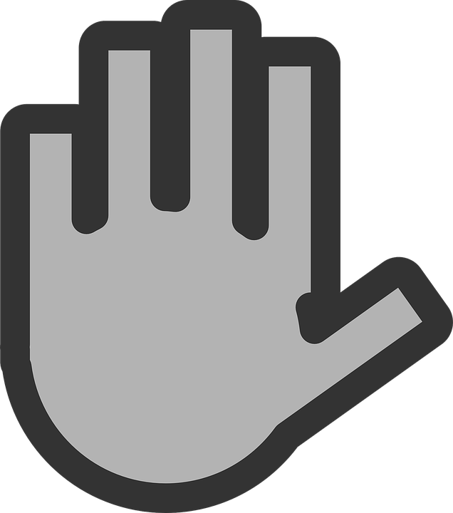 Free vector graphic: Hand, Grey, Ignore, Sign, Symbol.
