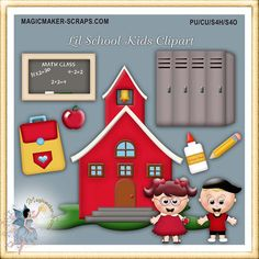 Winter Wonderland Clipart, Teddy Bear, digital scrapbook.