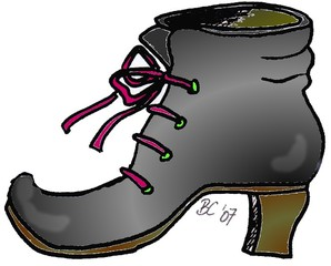 Clipart Alter Schuh.