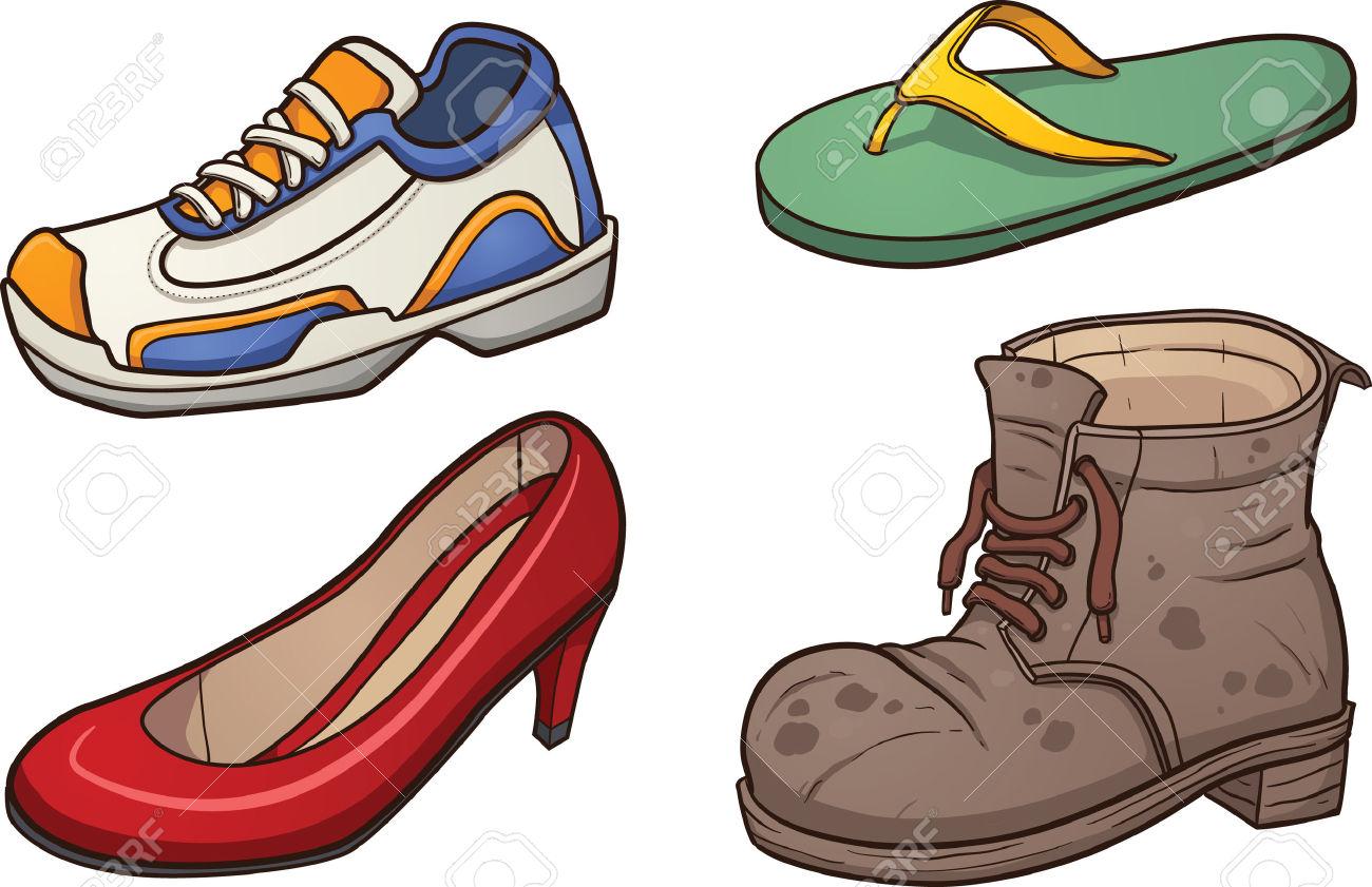 Schuhe Clip Art Vektor.