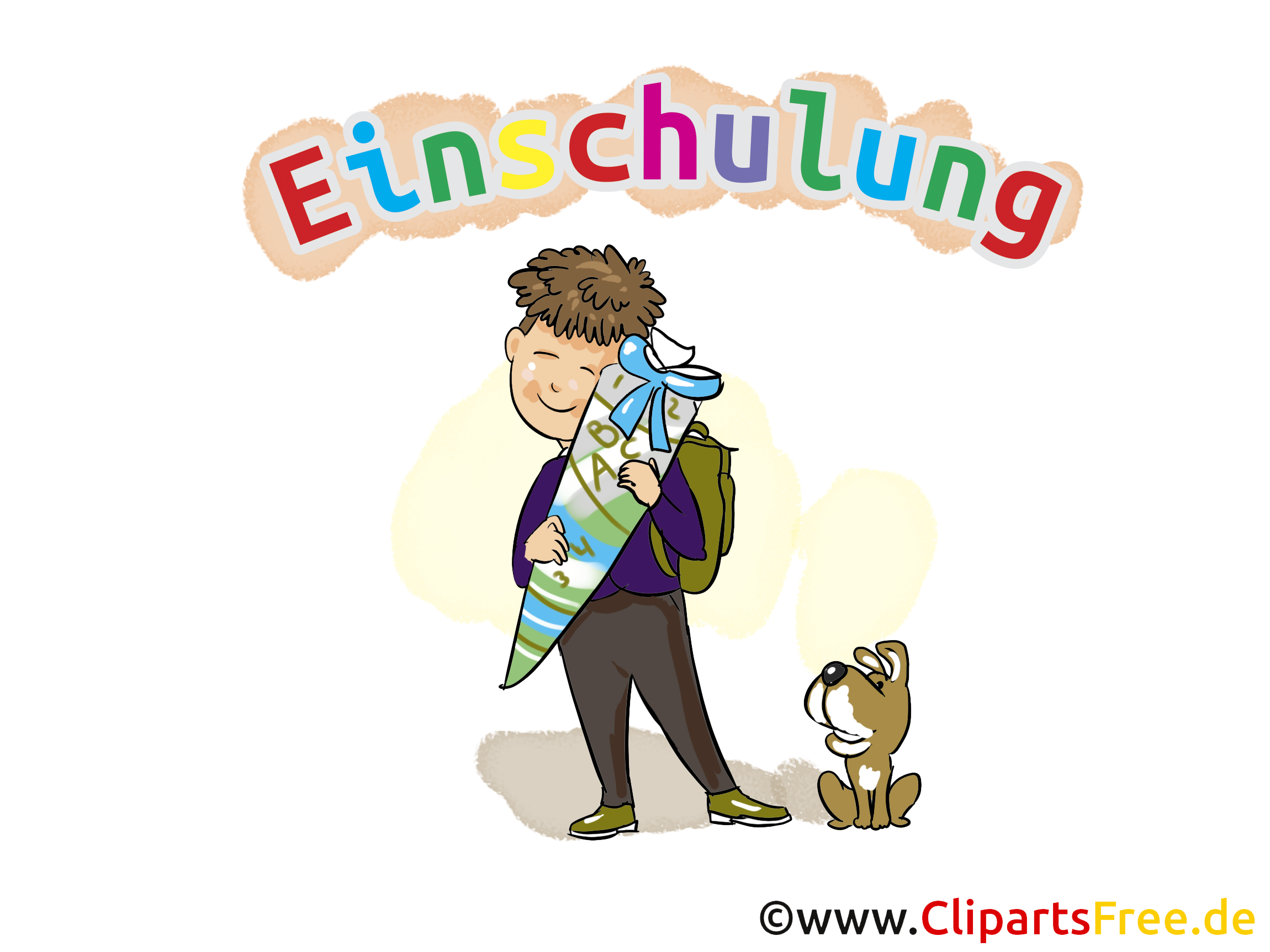 Einschulung Bilder, Cliparts, Cartoons, Grafiken, Illustrationen.