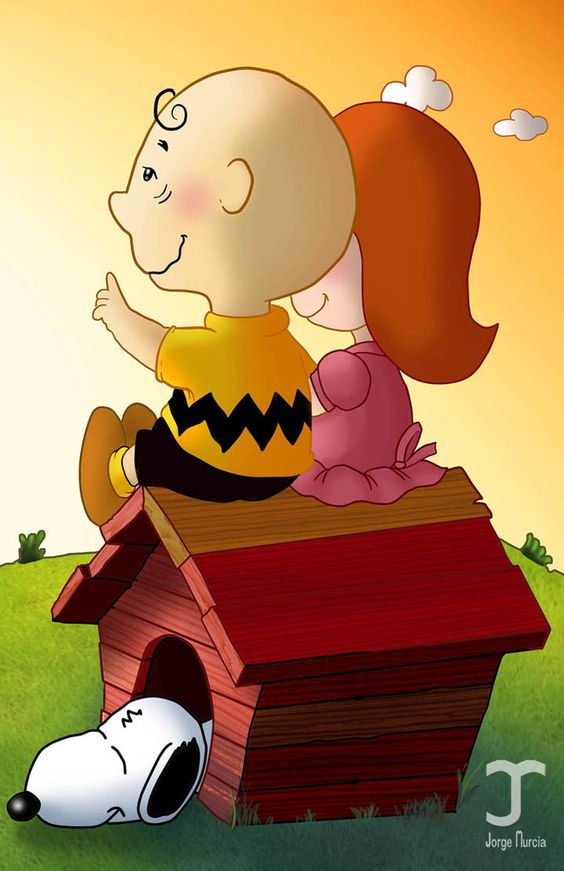 Charles Schulz Peanuts Little Red Haired Girl Clipart.