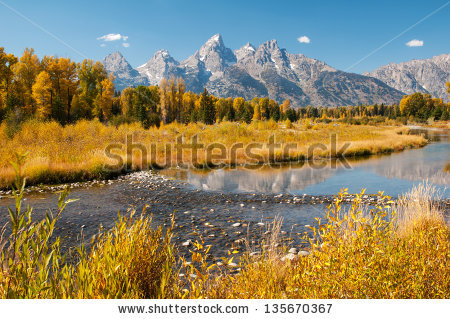 Vector Images, Illustrations and Cliparts: Grand Teton mountain.