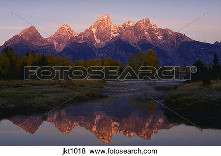 Pictures of Morning light on the Grand Teton Mountains and.