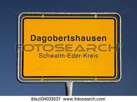 "Picture of ""City limits sign, Dagobertshausen, Schwalm."