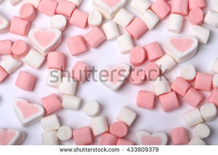 Marshmallow On White Background Stock Foto 341829005.