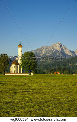 Stock Photo of Germany, Bavaria, Schwabia, Allgaeu, Schwangau.